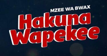 MP3 DOWNLOAD Mzee Wa Bwax – Hakuna Wapekee